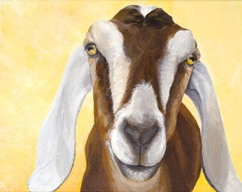 "Nubian Goat, ""You Are My Sunshine"" giclée print from original painting"