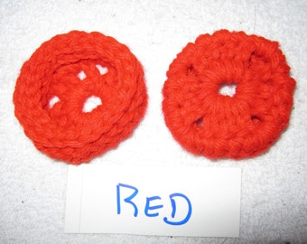 Red  Ear Pads/Cushions/Cookies for Phone Headset, Call Center, Hand-made, NEW.