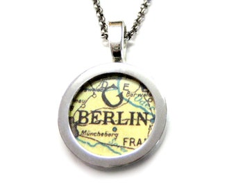 Berlin Map Pendant Necklace