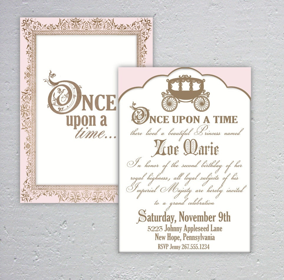 elegant once upon a time birthday or baby shower by dazzleology