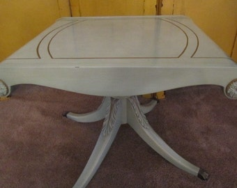 Shabby Chic Side Table, Nightstand , Vintage Side Table, End Table, Claw Foot Table, Furniture, French