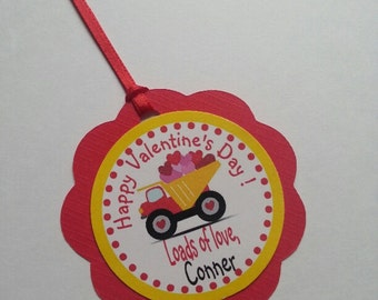 Truck Valentine Tags, Loads of love