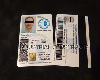 Custom Global Community ID Card / Badge - Left Behind Fan Inspired Prop (GC1)