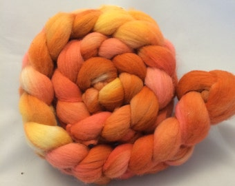 Hand Dyed Roving - Cornucopia - 4 oz - 100% Merino
