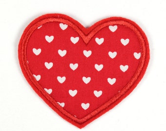 Patch  heart 8,5 x 6,5cm