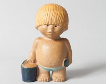 gustavsberg boy lisa larsson figure west mid century sweden collectible stoneware scandinavian