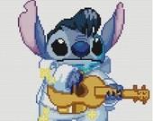 Stitch as Elvis Cross Stitch Pattern-Disney, Lilo and Stitch