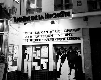 Paris Photography, Paris Black & White Theatre, Movie, Paris, Black  White Decor, Street Photography, Paris Fine Art Prints, Paris Theater