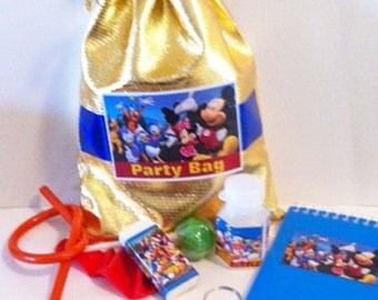 Mickey Mouse & Friends Party/Loot bag with 7 items included