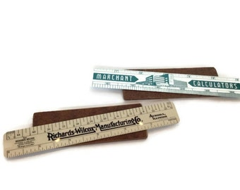 Vintage plastic rulers mid century advertising collectibles