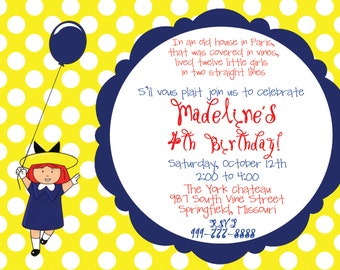 Madeline Birthday Party Invitation