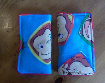Seat Belt strap covers Curious George