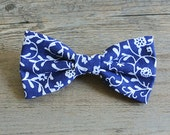 Paisley, Paisley Bow, Paisley Hair Bow, Paisley Bow, Paisley Tie, Tribal, Bow Tie, Black Bow, Bowtie, Hairbow, Mens Bow Tie, Blue and White