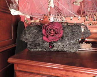 Upcycled Boho Hobo Gypsy Purse Gorgeous Lace crossover/clutch named 'Robin'