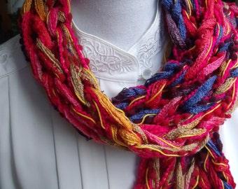 cheerful coloured short scarf (102/14 cm)