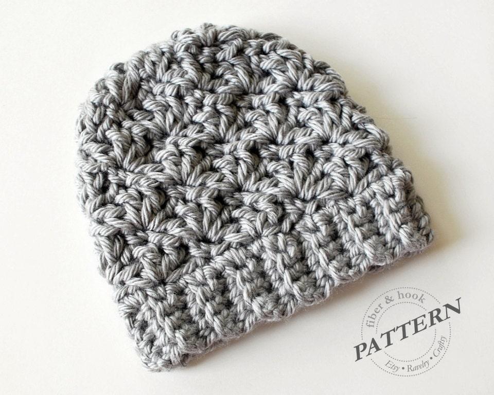 Crochet Patterns Beanie Hat : CROCHET PATTERN Newcastle Chunky Beanie Chunky Hat Pattern