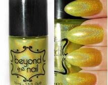 Shooting Star - Summer Galaxy Nail Polish - Neon Yellow and Holographic