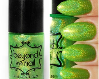 Comet - Summer Galaxy Nail Polish - Neon Green and Holographic