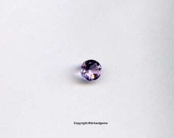 Semi Precious Loose 5 mm Faceted Round Brazilian Amethyst AAA For One