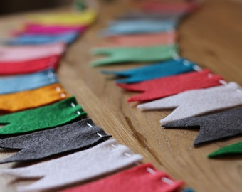 Felt Notched Flag Garland