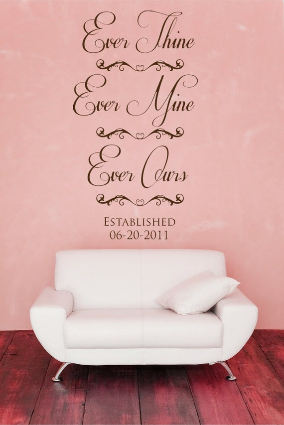 ever thine ever mine ever ours love decal by