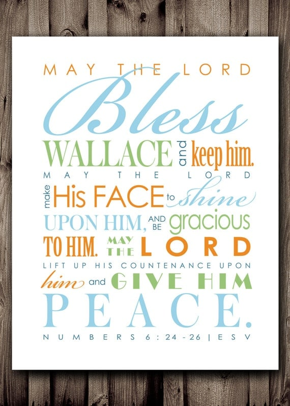 Baby Shower Blessings Bible Verses B Wall Decal