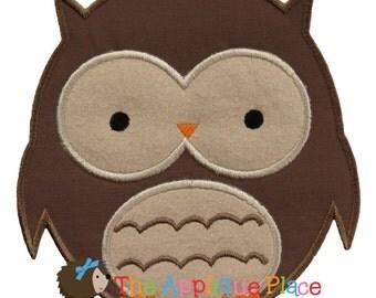 Owl Applique Design , Instant Digital Download File for Machine Embroidery , 4X4 5X7 6X10 in dst esp hus jef pes sew vip xxx vp3