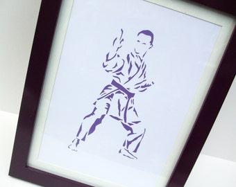 Paper cut Art -  Karate Picture, Judo Picture - Sport Art, Artwork, Hand cut art - silhouette