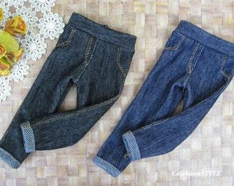 Kawkana - Short Crooped Leggings like Realistic Jeans, Summer Pants for MSD, MNF, JID, other 1/4 bjd