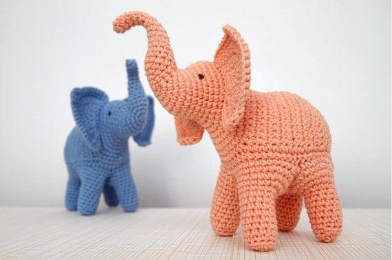 Free Crochet Pattern For Toy Elephant : Elephant Crochet Pattern Elephant Amigurumi by StuffTheBody