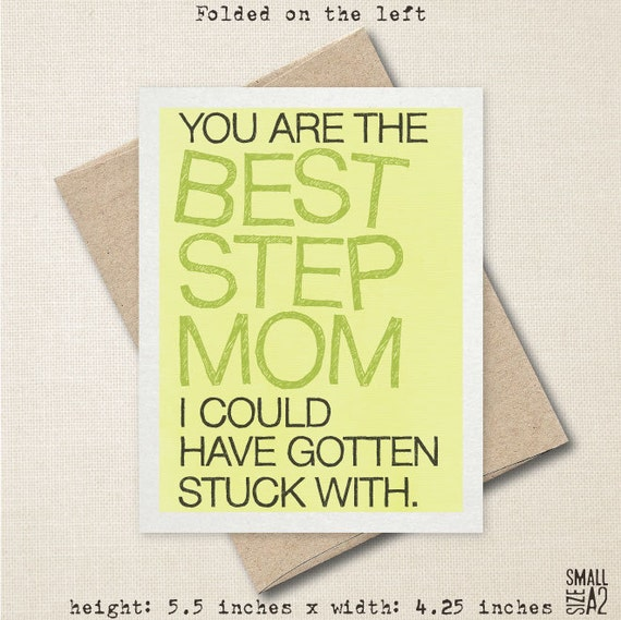 You're The Best Step Mom Mother's Day Card Funny