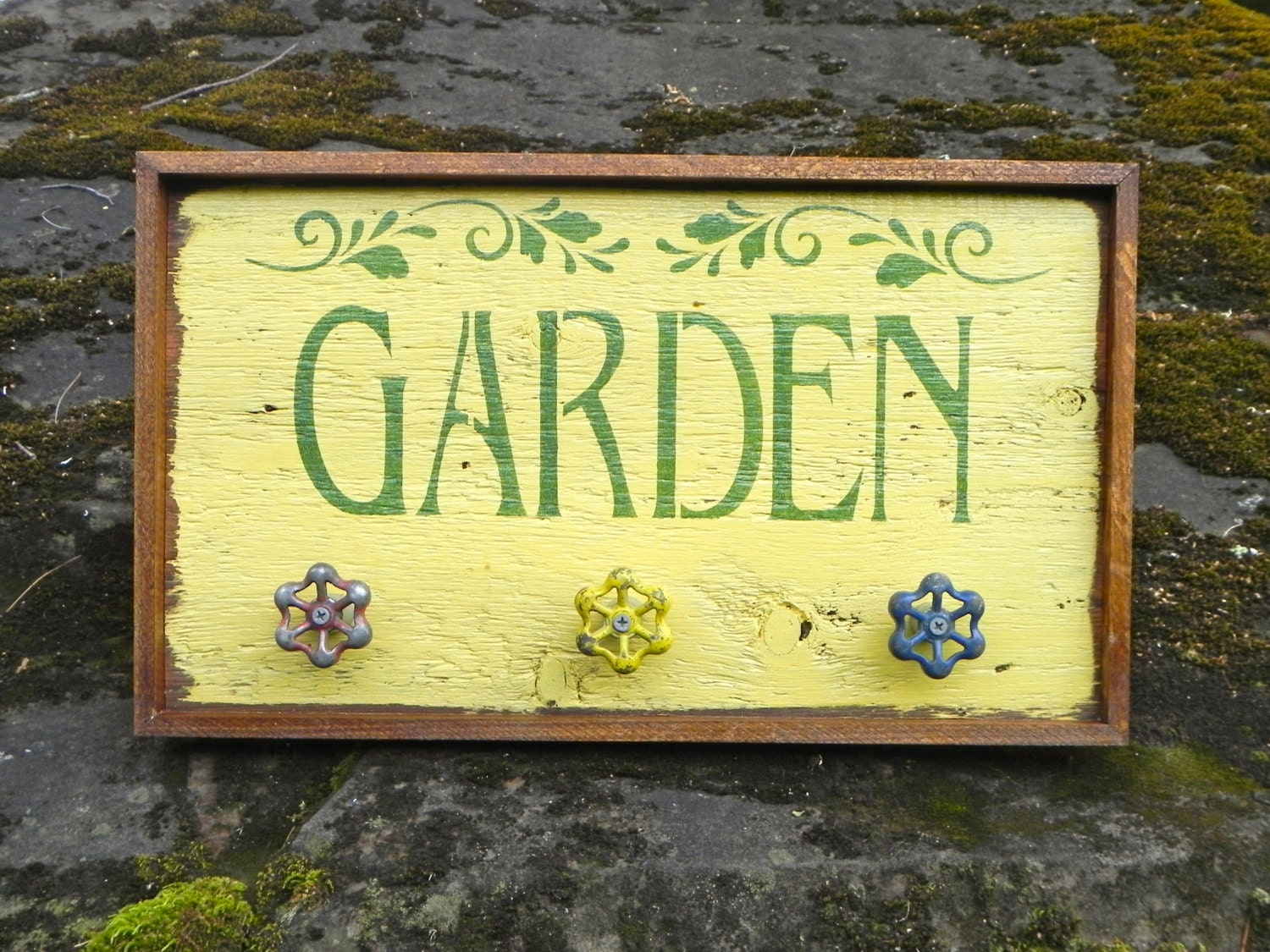 Garden signs and decor handmade wood sign outdoor sign for Outdoor decorative signs