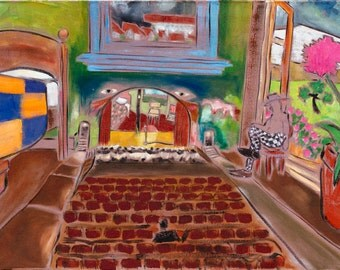 """Maybe I Sleep In The Theatre - Douglass Truth Original Painting - 24"""" x 36"""""""