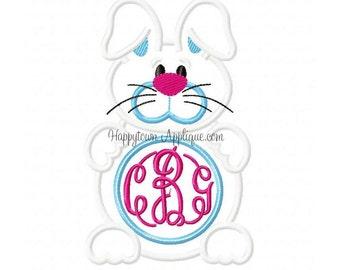 Bunny Monogram Machine Embroidery Design