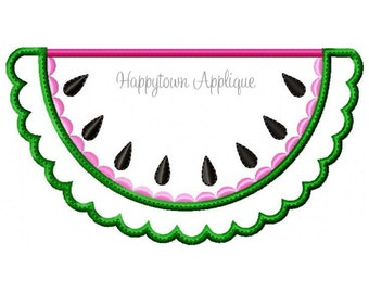 Watermelon Machine Embroidery Design