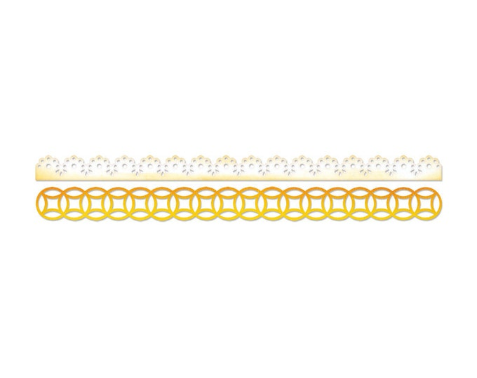 Sizzix Sizzlits Decorative Strip Die - Lace & Circles 658002
