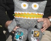 Monster Pajama Eater - Gray Platypus  - Kid Friendly - They Eat Toys - They like to Cuddle and make a great Pillow.
