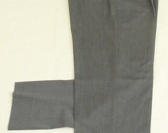 Hart Schaffner Marx Gray Worsted Sz. 37 Dress Pleat 100% Wool