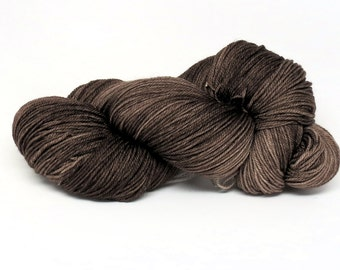 Coffee Beans - Stunning Superwash Fingering Weight - 100% Superwash Merino - 100 g - 475 yds