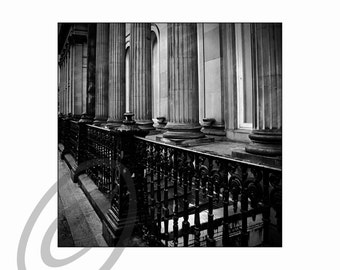 Detail of Gallery of modern art Glasgow,  (monochrome) image size approx 8 x 8 with 2 inch white border, limited edition Glicee print