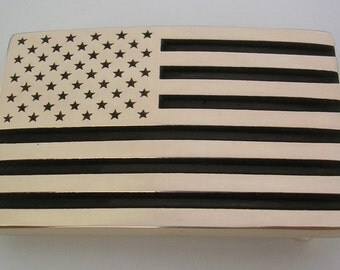 American Flag Belt Buckle USA