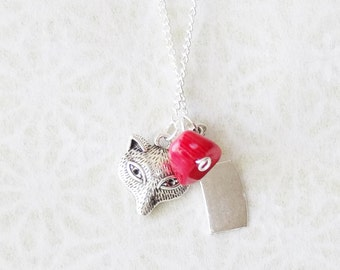 Big Bad Wolf Necklace / Silver Little Red Riding Hood Wolf Necklace / Fox Hunter Necklace / Vengeful Fox Necklace / Foxy Necklace