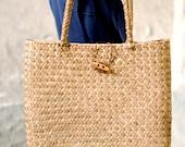 Handmade Weave Straw bag women shoulder bag tote Handbag Summer Beach bag brown