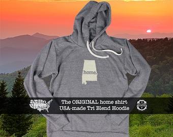 Tri Blend Pull Over Hoodie Alabama Home Sweatshirt