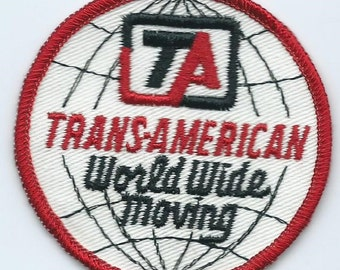 TA Trans-American World Wiide Moving driver patch 3 inch diameter closed 1989