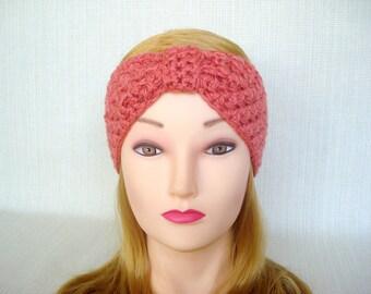 Womens crochet headband Crochet headband ear warmer Turban headband Crochet head bands Winter headband Hand crochet earwarmer head wrap