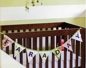 Custom Made Personalized Bunting Flag Name Banner