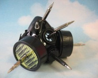 Yellow Bullets Respirator cyber goth mask