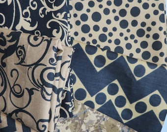Brown Black Fat Quarter Bundle by Fabric Finders by the yard