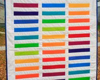 Rainbow Road Baby Quilt
